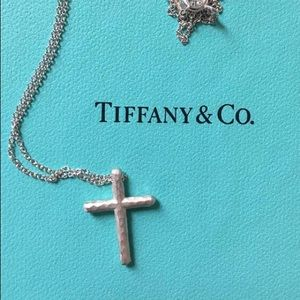 Tiffany Paloma Picasso Hammered cross necklace